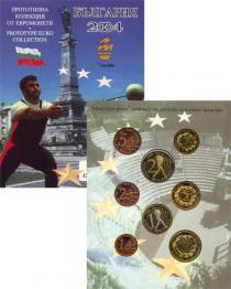 Каталог - подарочный набор  Болгария Набор монет Евро-модель