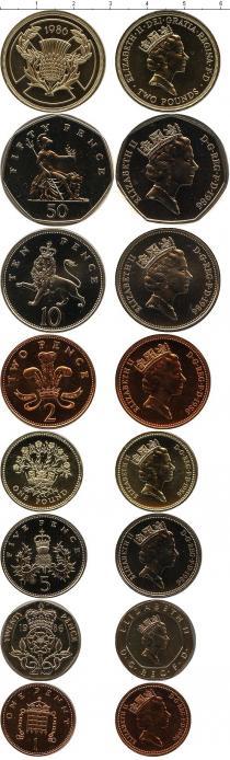 Каталог - подарочный набор  Великобритания Выпуск монет 1986