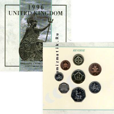 Каталог - подарочный набор  Великобритания Выпуск монет 1996