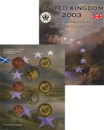Каталог - подарочный набор  Великобритания Набор монет Евро-модель