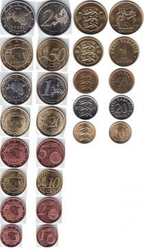 Каталог - подарочный набор  Эстония Введение евро 2011