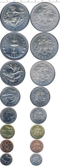 Каталог - подарочный набор  Барбадос Выпуск монет 1974