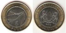 Каталог монет - монета  Ботсвана 5 пул