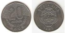 Каталог монет - монета  Коста-Рика 20 колон