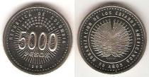 Каталог монет - монета  Колумбия 5000 песо