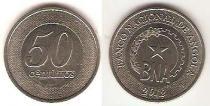 Каталог монет - монета  Ангола 50 сентим