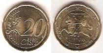 Каталог монет - монета  Литва 20 евроцентов