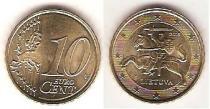 Каталог монет - монета  Литва 10 евроцентов