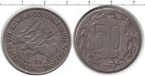 Каталог монет - монета  КФА 50 франков