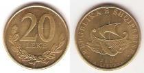 Каталог монет - монета  Албания 20 лек