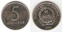 Каталог монет - монета  Ангола 5 кванза
