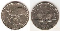 Каталог монет - монета  Папуа-Новая Гвинея 20 тоа