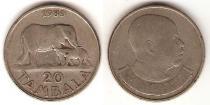 Каталог монет - монета  Малави 20 тамбала
