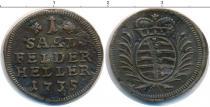 Каталог монет - монета  Саксен-Кобург-Саалфелд 1 геллер