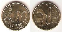 Каталог монет - монета  Андорра 10 евроцентов