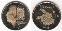 Каталог монет - монета  Синт-Эстатиус 5 долларов