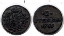 Каталог монет - монета  Саксония 2 пфеннига