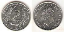 Каталог монет - монета  Карибы 2 цента