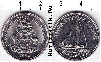 Каталог монет - монета  Багамские острова 25 центов