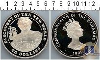 Каталог монет - монета  Багамские острова 25 долларов