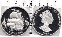 Каталог монет - монета  Багамские острова 5 долларов