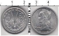 Каталог монет - монета  Французская Африка 1 франк