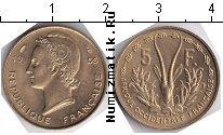 Каталог монет - монета  Французская Африка 5 франков