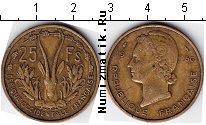 Каталог монет - монета  Французская Африка 25 франков