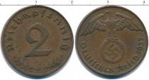 Каталог монет - монета  Третий Рейх 2 пфеннига