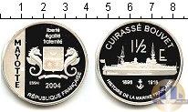 Продать Монеты Майотта 1 1/2 евро 2004 Серебро