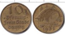 Каталог монет - монета  Данциг 10 пфеннигов