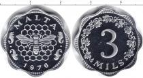 Каталог монет - монета  Мальта 3 милса