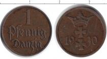 Каталог монет - монета  Данциг 1 пфенниг