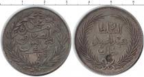 Каталог монет - монета  Тунис 4 пиастра