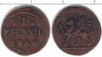 Продать Монеты Росток 1 пфенниг 1848 Медь