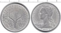 Каталог монет - монета  Сомали 5 франков
