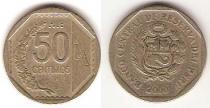 Каталог монет - монета  Перу 50 сентим