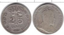 Каталог монет - монета  Цейлон 25 центов