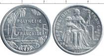 Каталог монет - монета  Полинезия 1 франк