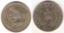 Каталог монет - монета  Гватемала 25 сентаво