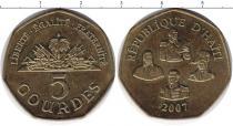 Каталог монет - монета  Гаити 5 гурдес