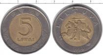 Каталог монет - монета  Литва 5 лит