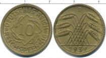 Каталог монет - монета  Веймарская республика 10 пфеннигов