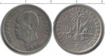 Каталог монет - монета  Гаити 5 сентим