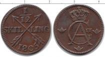 Каталог монет - монета  Швеция 1/12 скиллинга
