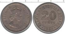 Каталог монет - монета  Малайзия 20 центов