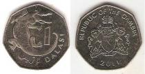 Каталог монет - монета  Гамбия 1 даласи