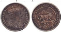 Каталог монет - монета  Уганда 25 центов