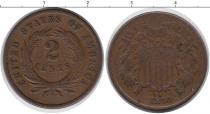 Каталог монет - монета  США 2 цента