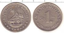 Каталог монет - монета  Боливия 1 боливиано